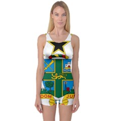 Coat of Arms of Ghana One Piece Boyleg Swimsuit