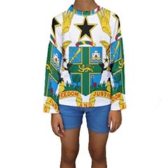 Coat of Arms of Ghana Kids  Long Sleeve Swimwear