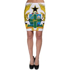 Coat of Arms of Ghana Bodycon Skirt