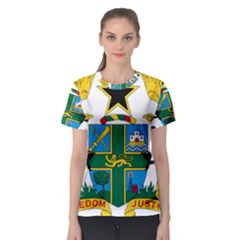 Coat of Arms of Ghana Women s Sport Mesh Tee