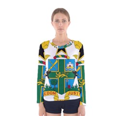 Coat of Arms of Ghana Women s Long Sleeve Tee