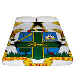 Coat of Arms of Ghana Fitted Sheet (California King Size)