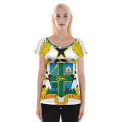 Coat of Arms of Ghana Women s Cap Sleeve Top