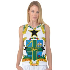 Coat of Arms of Ghana Women s Basketball Tank Top