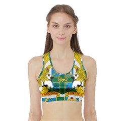 Coat of Arms of Ghana Sports Bra with Border