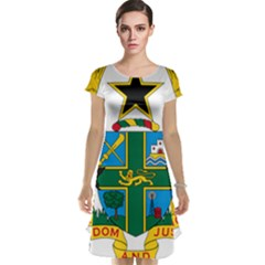 Coat of Arms of Ghana Cap Sleeve Nightdress