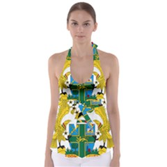 Coat of Arms of Ghana Babydoll Tankini Top