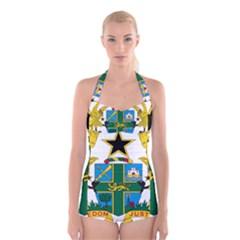 Coat of Arms of Ghana Boyleg Halter Swimsuit