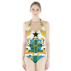 Coat of Arms of Ghana Halter Swimsuit