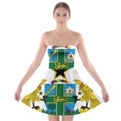 Coat of Arms of Ghana Strapless Bra Top Dress