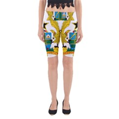 Coat of Arms of Ghana Yoga Cropped Leggings