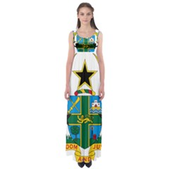 Coat of Arms of Ghana Empire Waist Maxi Dress