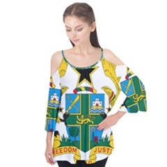 Coat of Arms of Ghana Flutter Tees