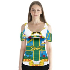 Coat of Arms of Ghana Butterfly Sleeve Cutout Tee