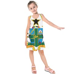 Coat of Arms of Ghana Kids  Sleeveless Dress