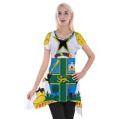 Coat of Arms of Ghana Short Sleeve Side Drop Tunic