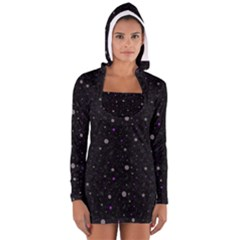 Celestial in black Women s Long Sleeve Hooded T-shirt