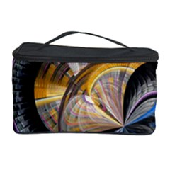 Fractal Tech Disc Background Cosmetic Storage Case