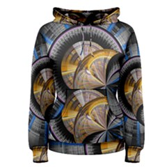 Fractal Tech Disc Background Women s Pullover Hoodie