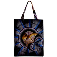 Fractal Tech Disc Background Zipper Classic Tote Bag