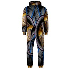 Fractal Tech Disc Background Hooded Jumpsuit (Men)