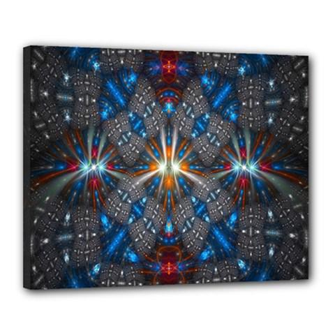 Fancy Fractal Pattern Canvas 20  x 16