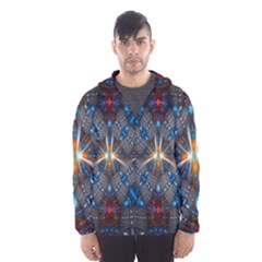 Fancy Fractal Pattern Hooded Wind Breaker (men)