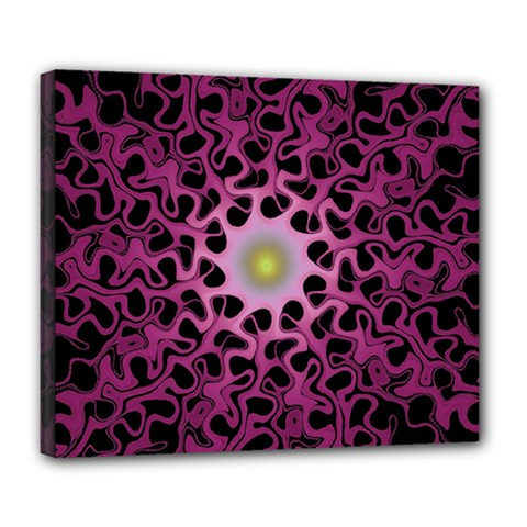 Cool Fractal Deluxe Canvas 24  x 20