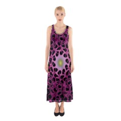 Cool Fractal Sleeveless Maxi Dress