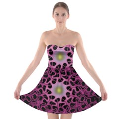 Cool Fractal Strapless Bra Top Dress