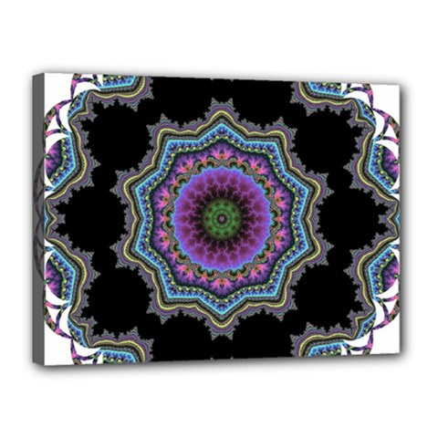 Fractal Lace Canvas 16  X 12