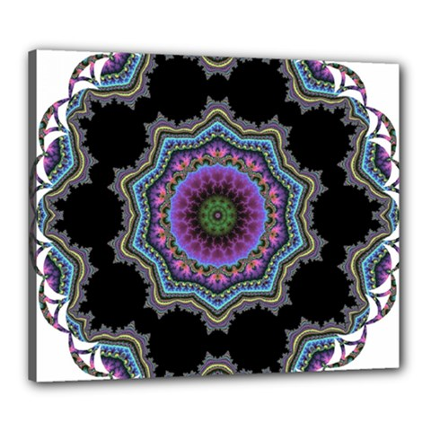 Fractal Lace Canvas 24  x 20