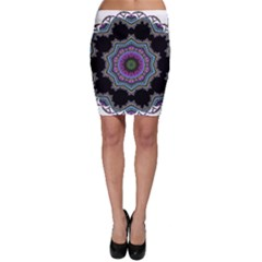 Fractal Lace Bodycon Skirt