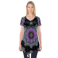 Fractal Lace Short Sleeve Tunic