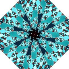 Decorative Fractal Background Hook Handle Umbrellas (Large)