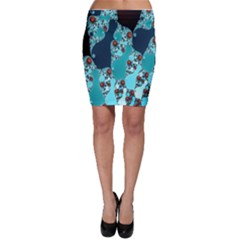 Decorative Fractal Background Bodycon Skirt