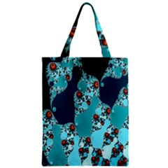 Decorative Fractal Background Zipper Classic Tote Bag