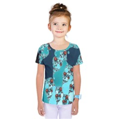 Decorative Fractal Background Kids  One Piece Tee