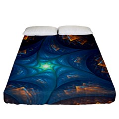 Fractal Star Fitted Sheet (california King Size)