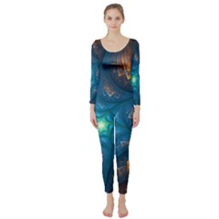 Fractal Star Long Sleeve Catsuit