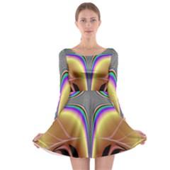 Symmetric Fractal Long Sleeve Skater Dress