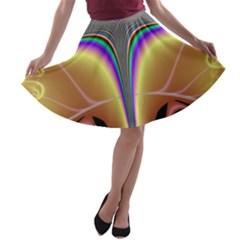 Symmetric Fractal A-line Skater Skirt