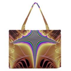 Symmetric Fractal Medium Zipper Tote Bag
