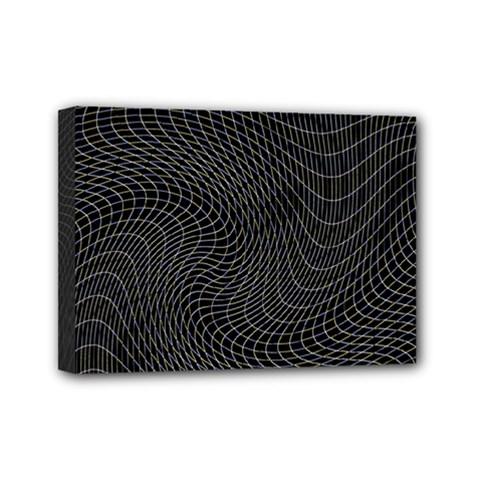 Distorted Net Pattern Mini Canvas 7  X 5