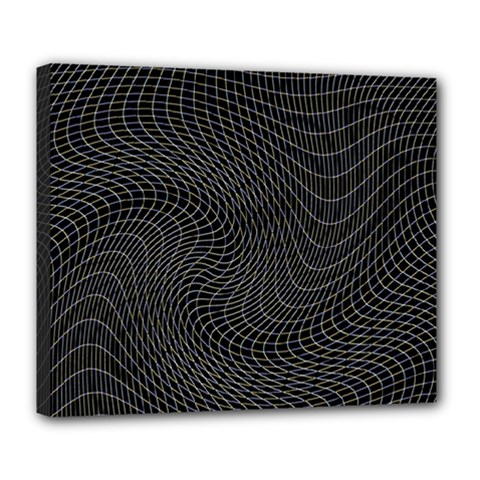 Distorted Net Pattern Deluxe Canvas 24  X 20