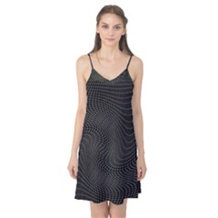Distorted Net Pattern Camis Nightgown