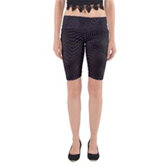 Distorted Net Pattern Yoga Cropped Leggings