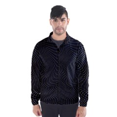 Distorted Net Pattern Wind Breaker (Men)