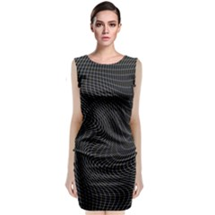Distorted Net Pattern Classic Sleeveless Midi Dress