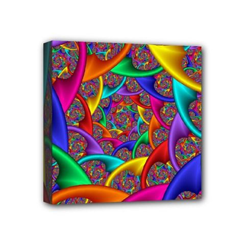 Color Spiral Mini Canvas 4  X 4